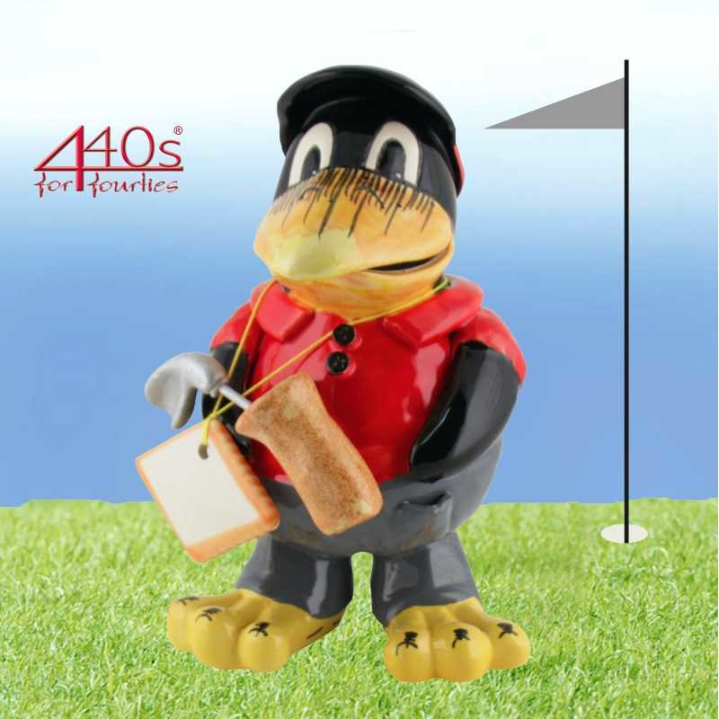 Tangoo Keramik-Rabe Golfer im roten Hemd | TA-18808