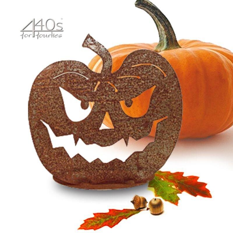 SAREMO Rost-Halloween-Kürbis auf Platte ca. 30 cm H | SA-HK4