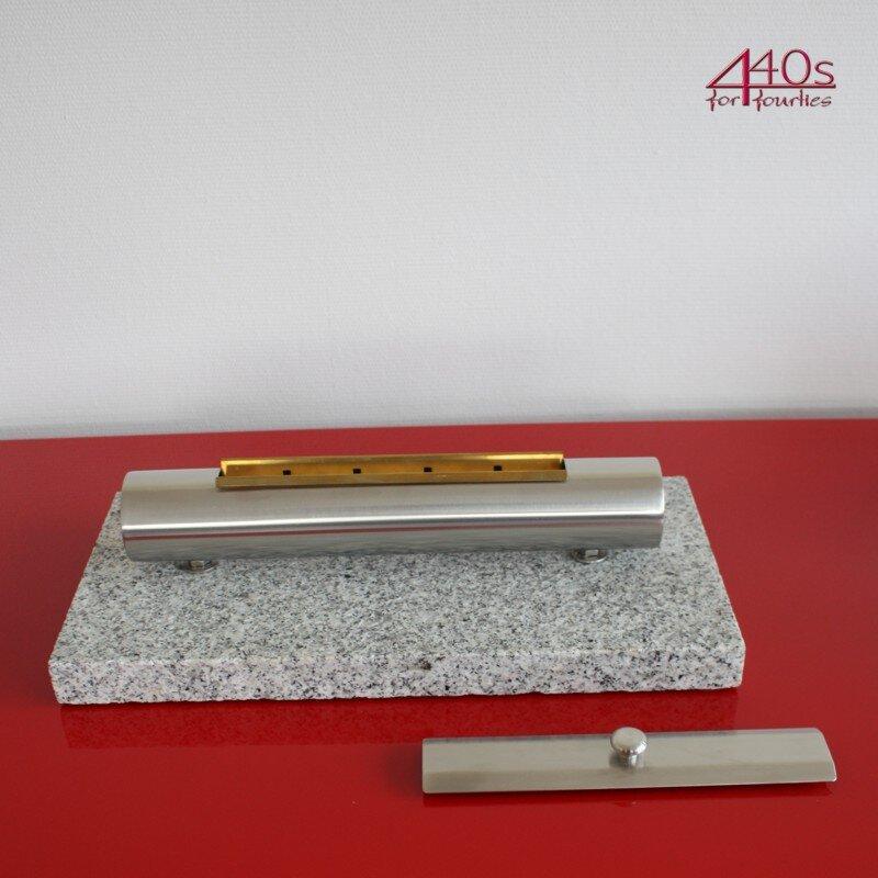 Livardes Edelstahl Tischfeuer MODENA Granit grau
