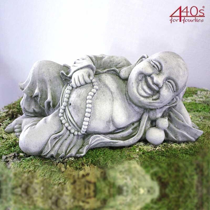 Kretakotta liegender Buddha Antiksteinguss B ca. 46 cm   KK-205