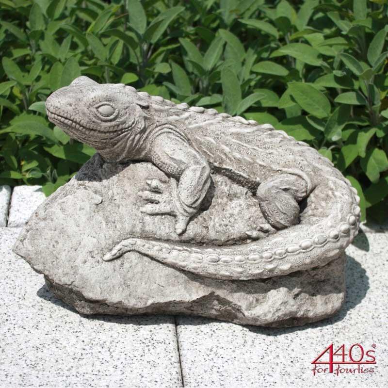 Kretakotta Echse aus Antiksteinguss H ca. 23 cm | KK-1211