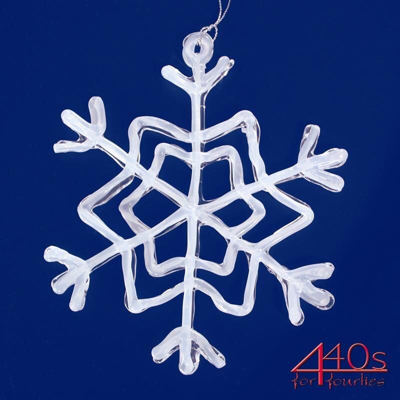 kwoka Eiskristall Schneeflocke Acryl-Hänger weiß ca. 16 cm D