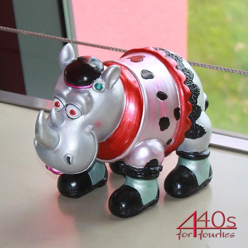 Gift-Company Nashorn RHINO LADY Stellfigur bunt metallic H ca 20,5 cm