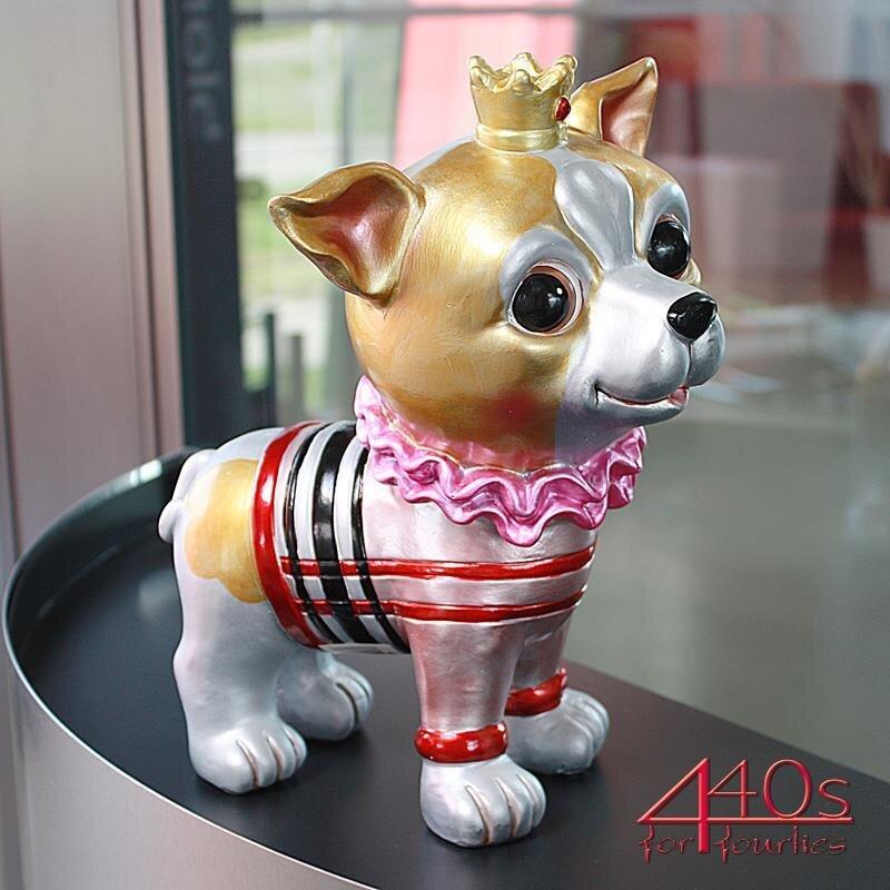 Gift-Company Chihuahua QUEEN Stellfigur bunt metallic H ca. 29 cm
