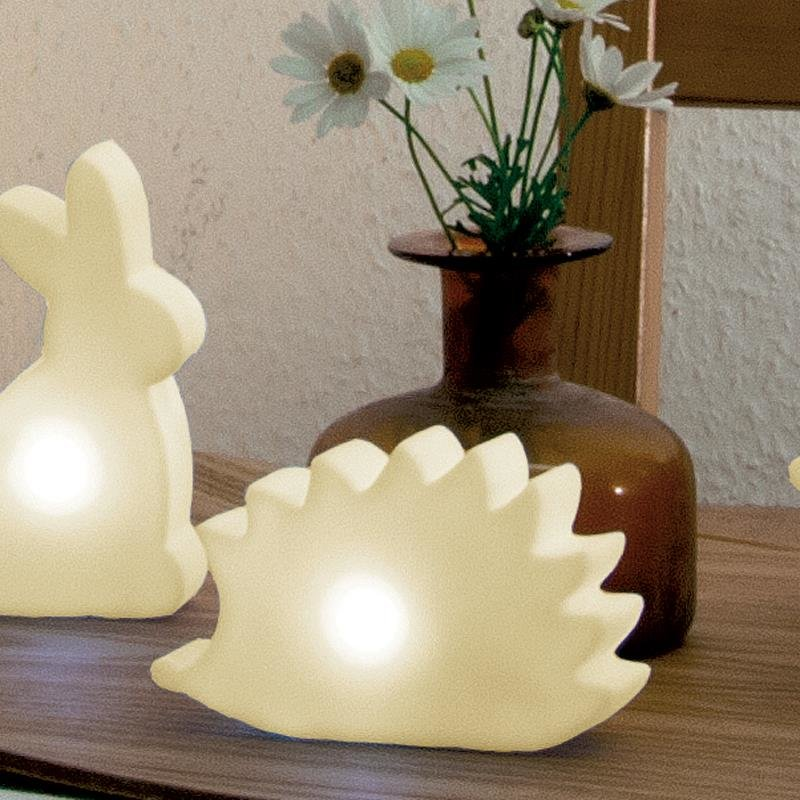 8 seasons DESIGN Leucht-Igel Shining HEDGEHOG MICRO weiß, ca. 7
