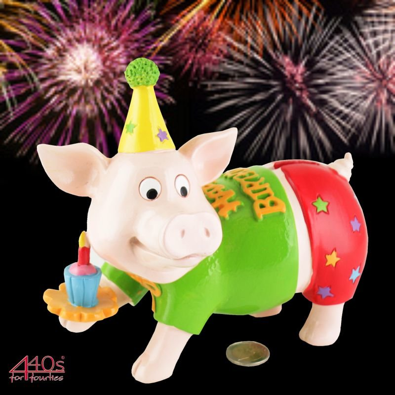 Gift-Company Geburtstags-Spar-Schweini HAPPY BIRTHDAY ca 18 cm H