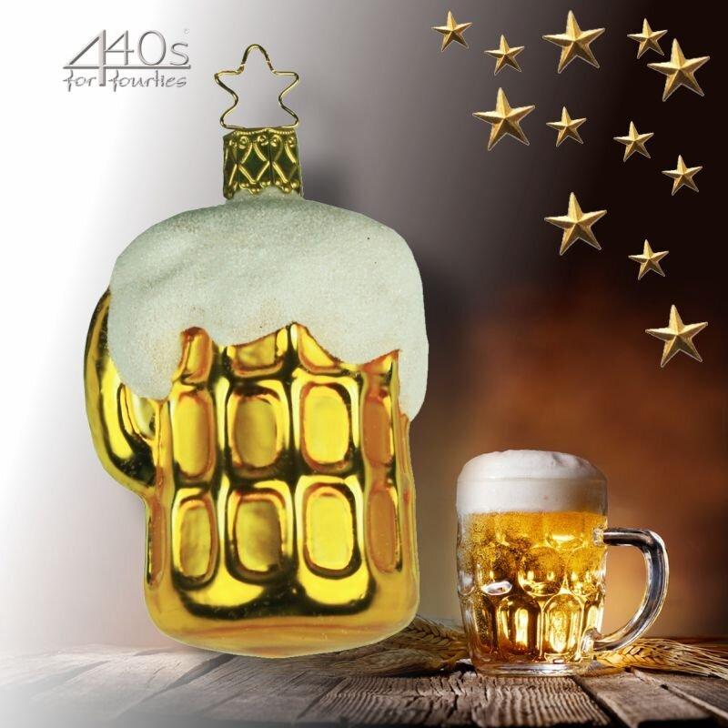 INGE-GLAS® Weihnachts-Hänger Bierkrug Auf der Wiesn