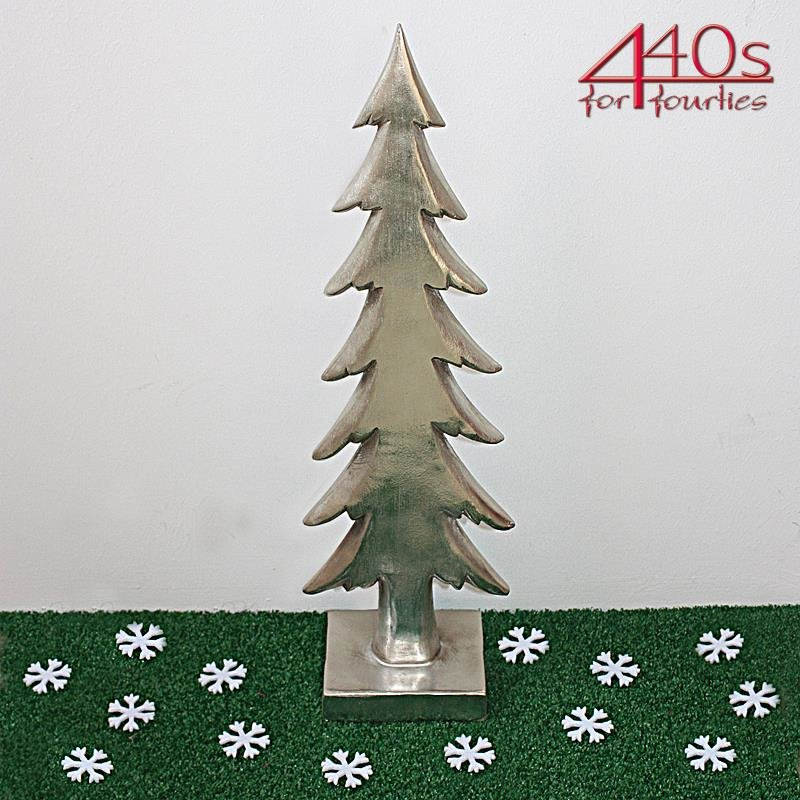 kwoka Tannenbaum silber antik H ca. 51,5 cm