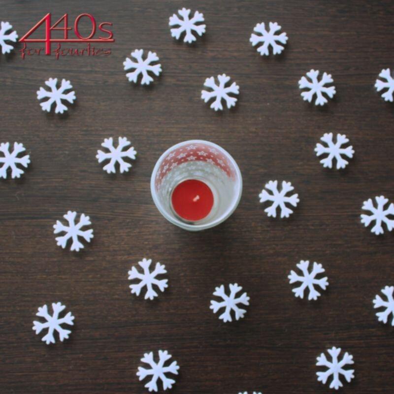 kwoka Filzschneeflocken zum Streuen 48 Stück D ca. 3,5 cm