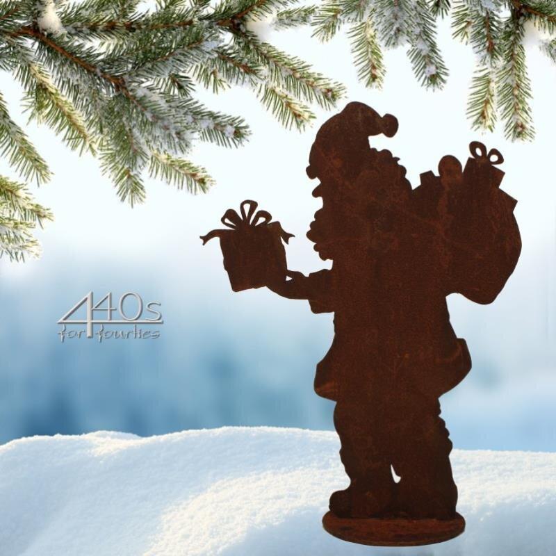 SAREMO Rost-Nikolaus auf Platte H ca. 30 cm | SA-Santa30P