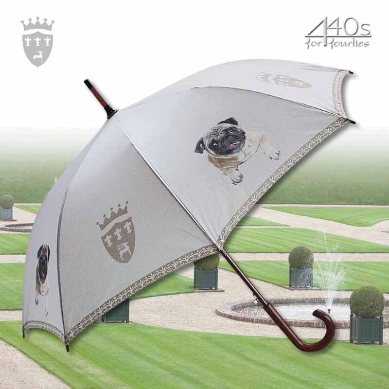 Von Lilienfeld® Automatik-Regenschirm MOPS Automatik, ca. 100 cm D