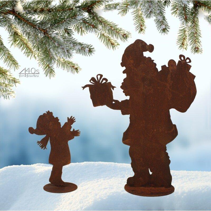 SAREMO Rost 2er Set Nikolaus und Kind