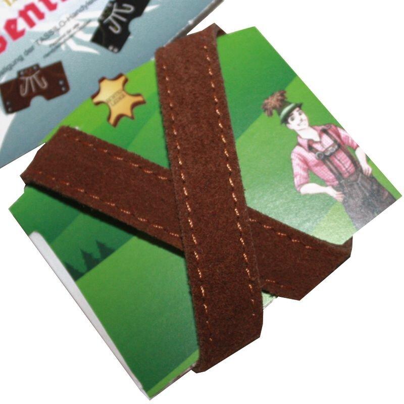Tassilo Hosenträger für Handytasche Lederhose Gr. L und M braun