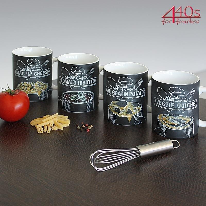 Könitz Porzellan Mug Cuisine Geschenke-Set mit 4 Tassen