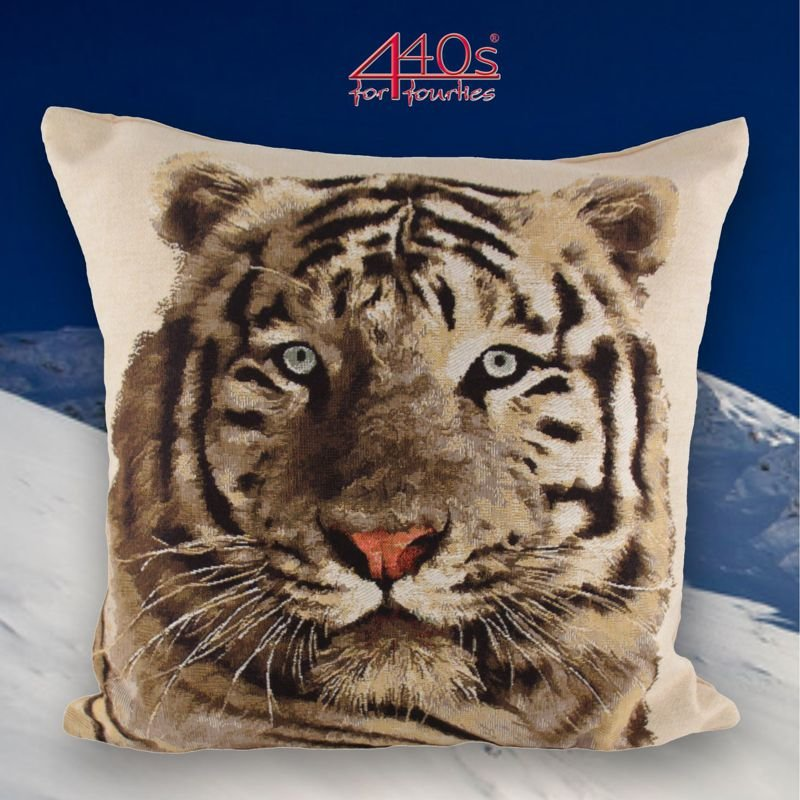 Mars & More Gobelin Kissen sibirischer Tiger weiß, ca. 45x45cm | MM-EVKSXTS