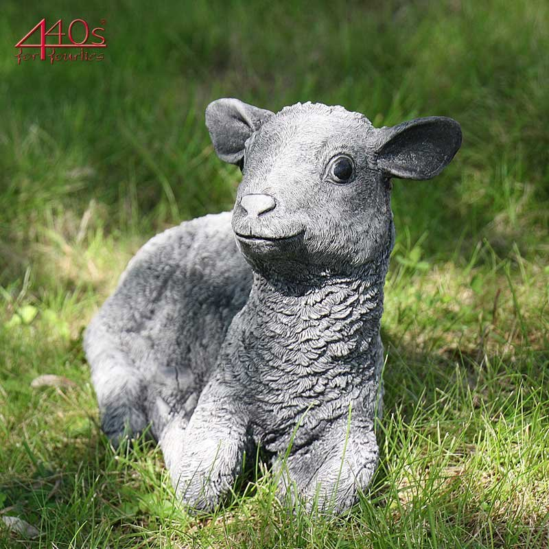Kretakotta Schaf liegend Antiksteinguss L ca. 39 cm   KK-1223