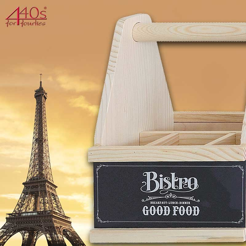 Contento Besteck Caddy BISTRO Holz | CO-866840