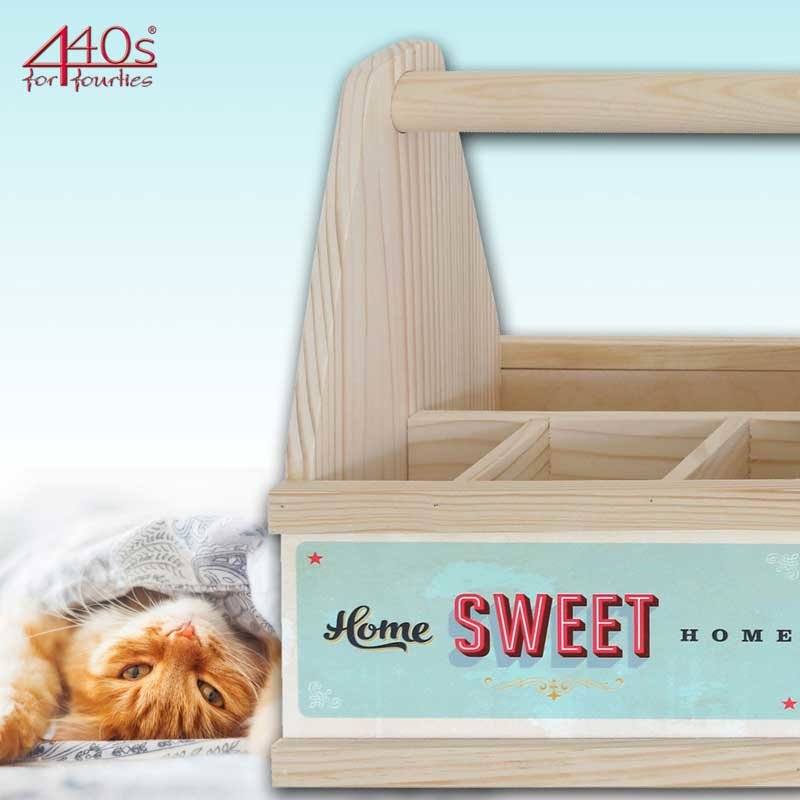 Contento Besteck Caddy HOME sweet HOME Holz | CO-866845