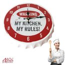 Contento Wanduhr CROWNS MY KITCHEN MY RULES! Metall |...