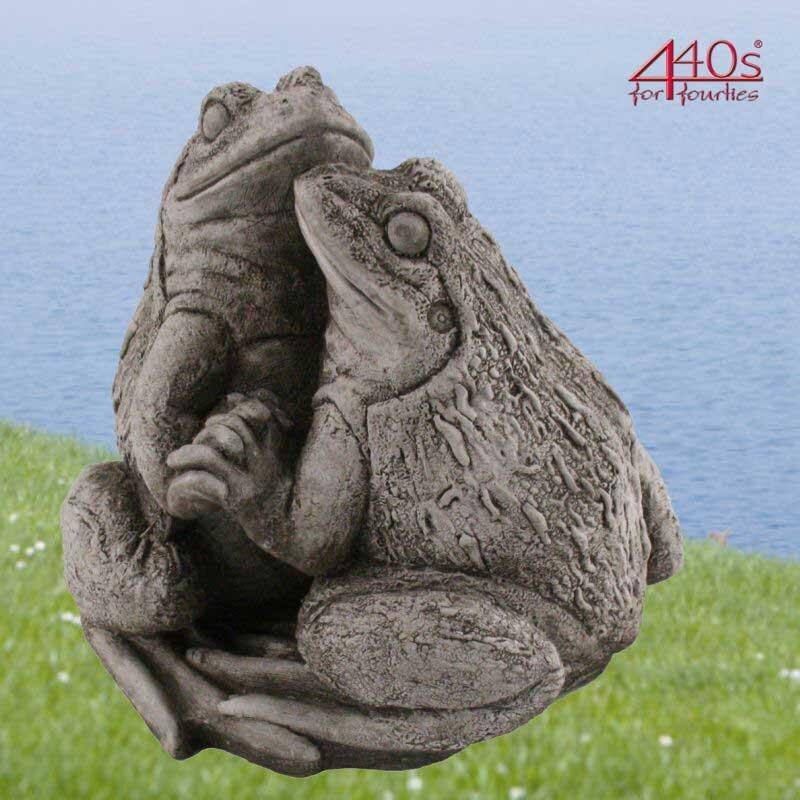 Kretakotta Frosch-pärchen Antiksteinguss H ca. 21 cm   KK-2018-08