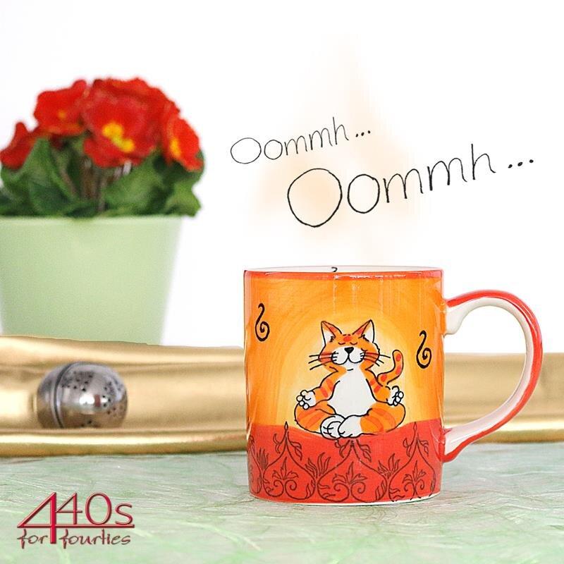 Mila Keramik-Becher Oommh Katze | MI-80038
