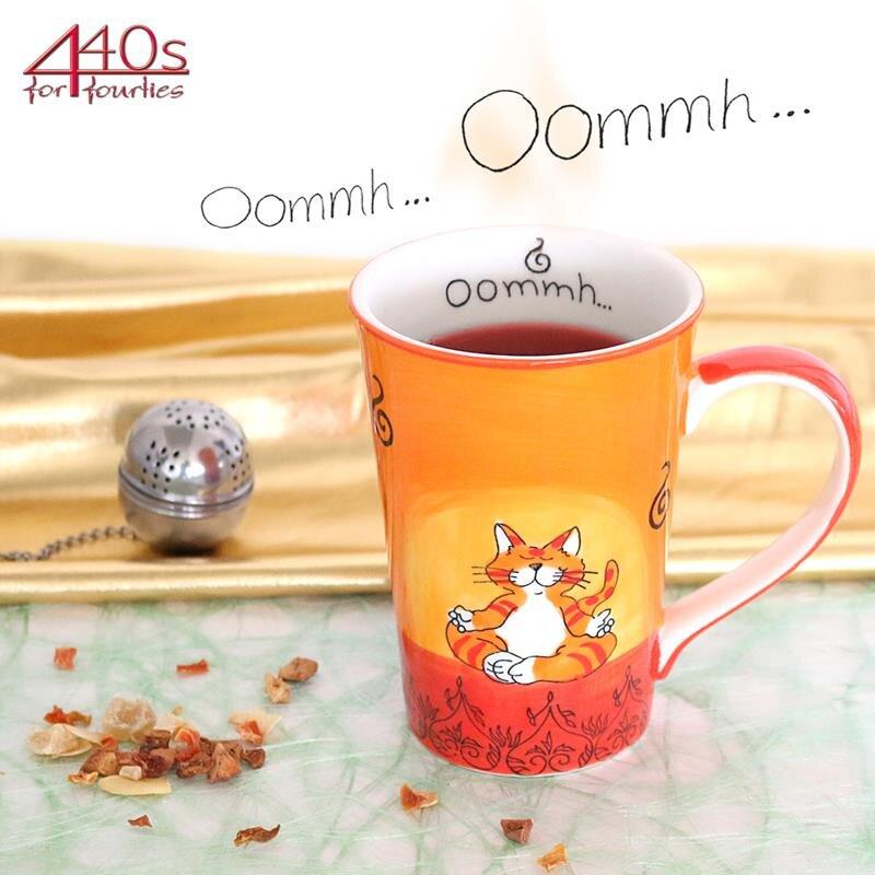 Mila Keramik-Teebecher Oommh Katze | MI-81038