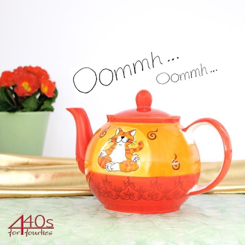 Mila Keramik-Teekanne Oommh Katze ca. 1,2 Liter | MI-94038