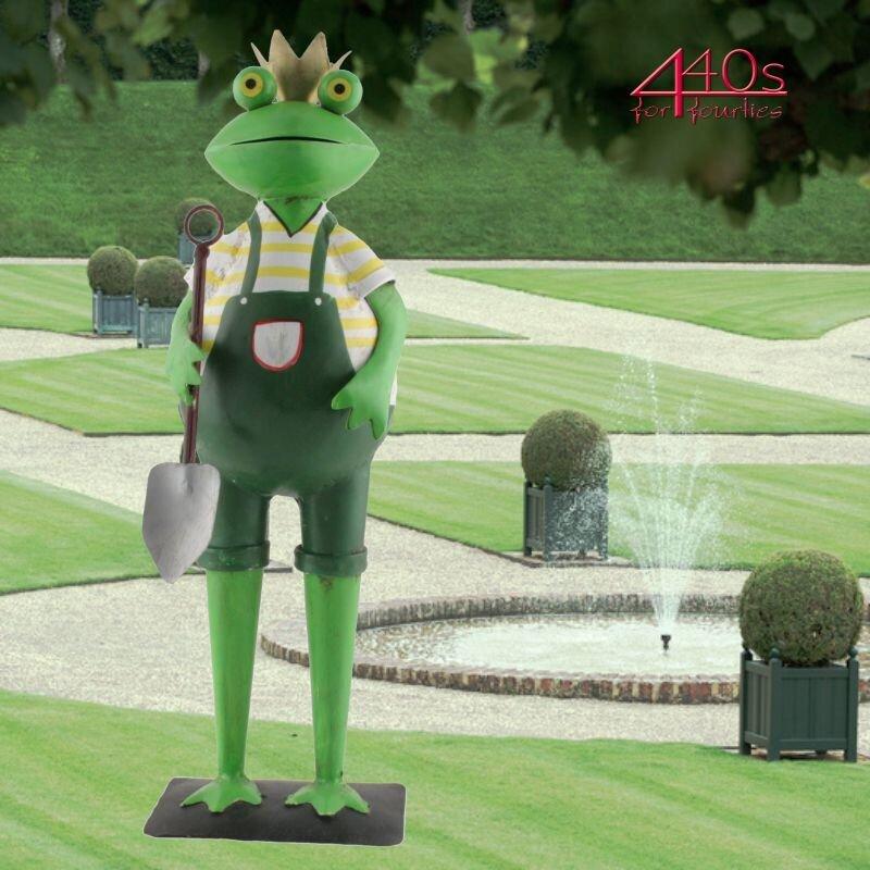 Exner Metall Frosch KANU mit Schaufel und grüner Hose | EX-223779 | 4045406209059