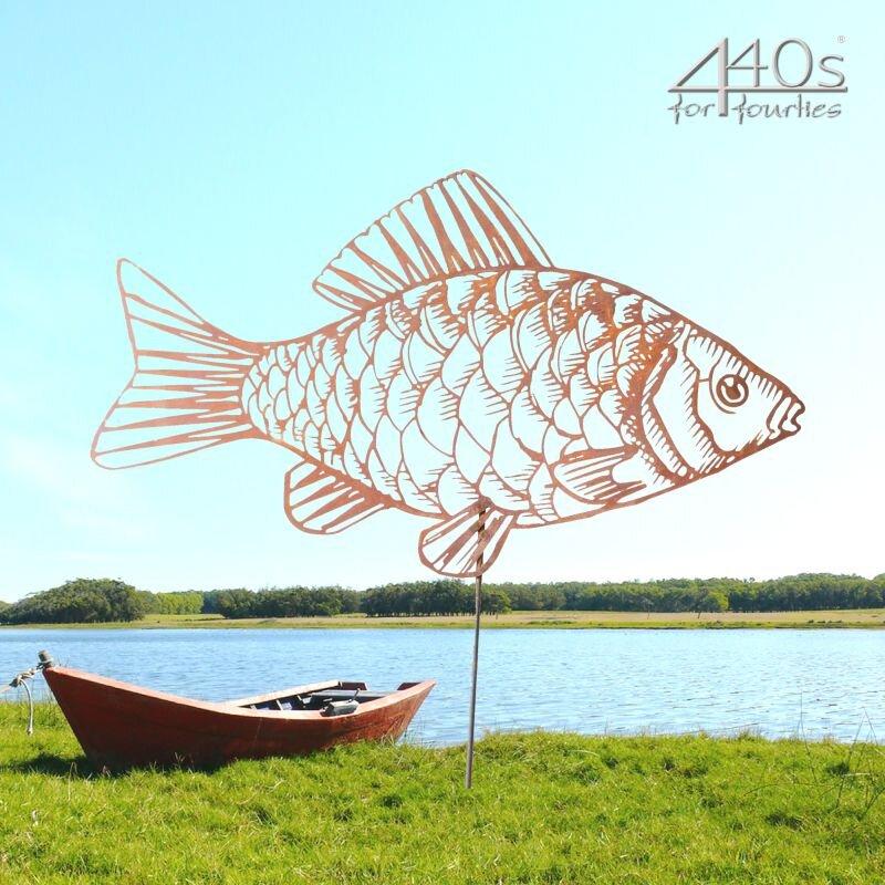 SAREMO Rost-Fisch Brasse ca. 70 cm L mit Stab | SA-FischD70