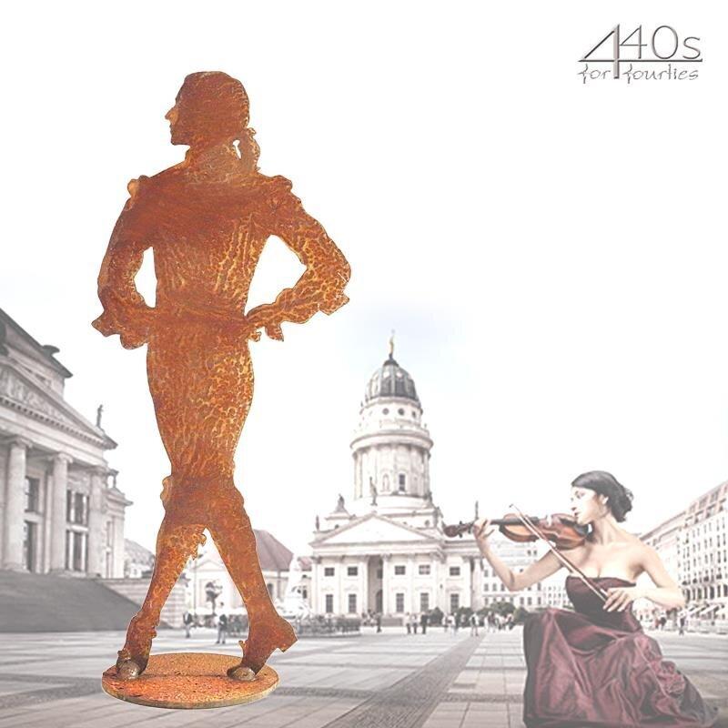 SAREMO Rost-barocker-Tänzer ca. 27 cm H auf Platte | SA-BTC