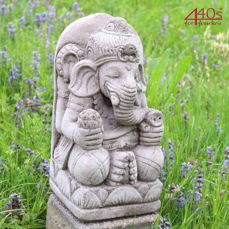 Kretakotta kleiner Ganesha Antiksteinguss H ca. 30 cm   KK-279A