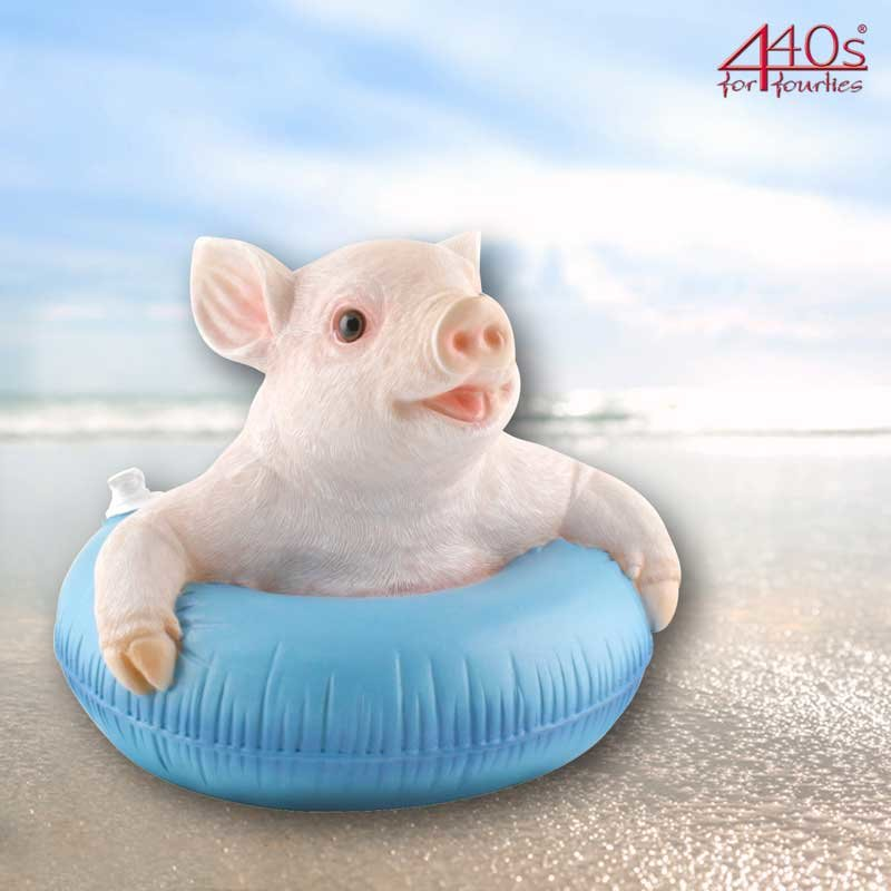 AM-Design Schwein mit Schwimmring, schwimmend, H ca. 18 cm