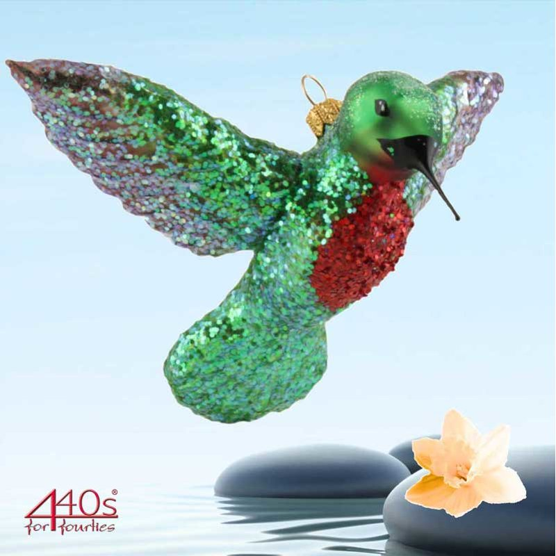 440s Christbaum-Hänger Kolibri grün-lila