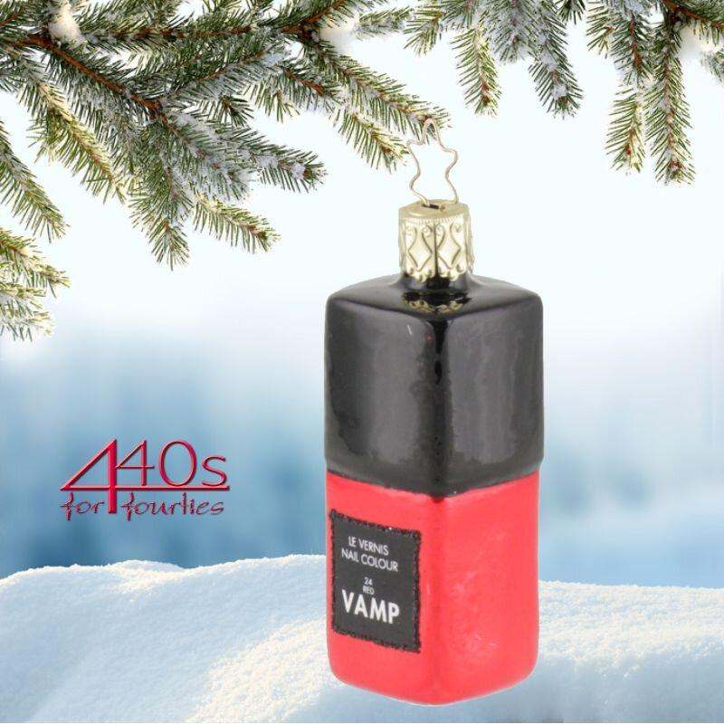 440s.de INGE-GLAS Weihnachts-Hänger Nagellack Vampsation