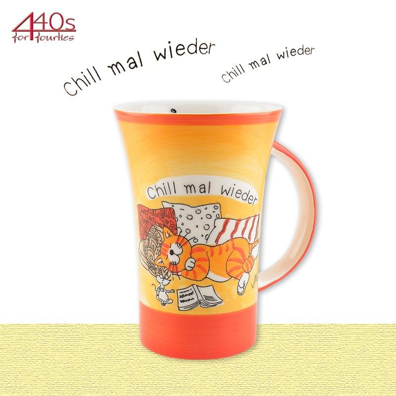 Mila Keramik-Becher Coffee Pot Oommh Katze Chill mal wieder | MI-82159