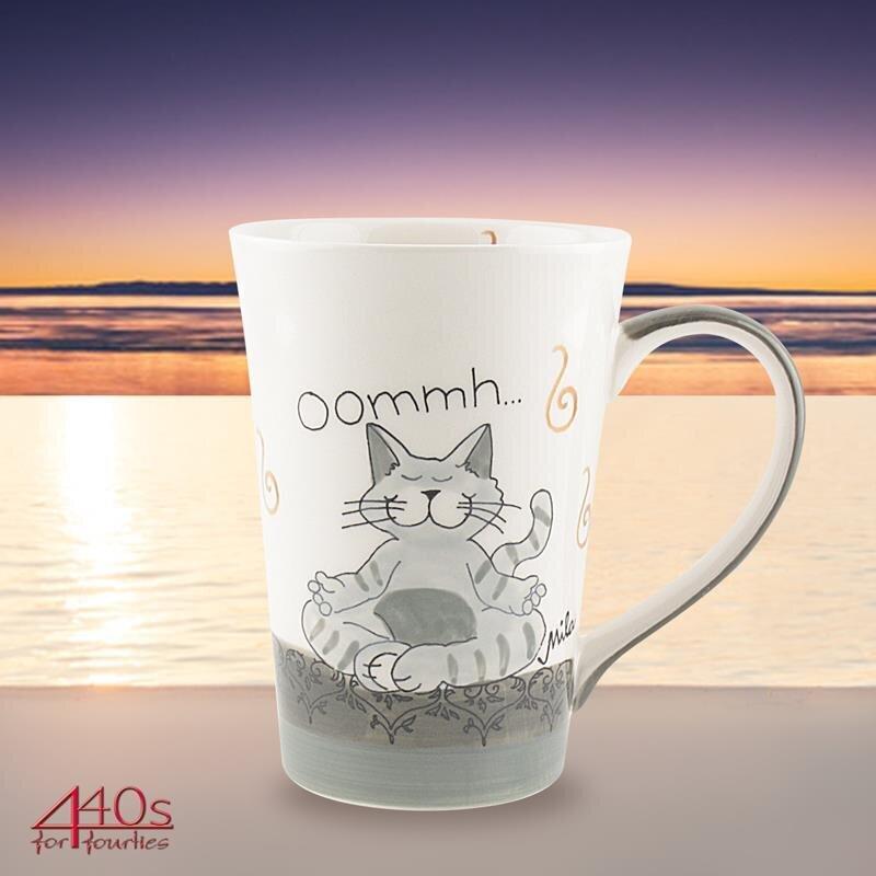 Mila Keramik-Teebecher Oommh Katze Pure