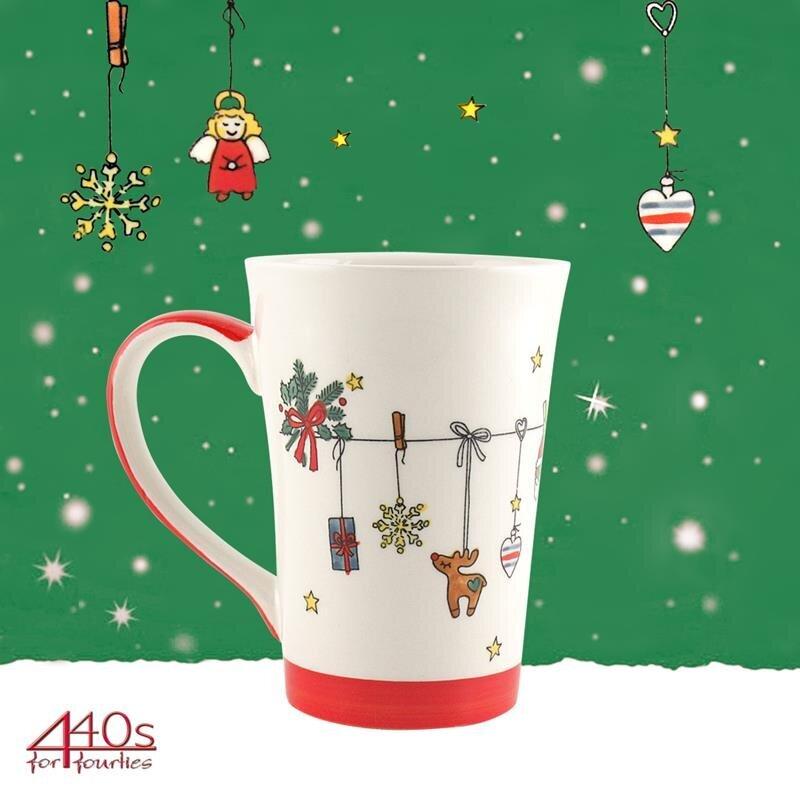 Mila Keramik-Teebecher Es Weihnachtet sehr   MI-81163