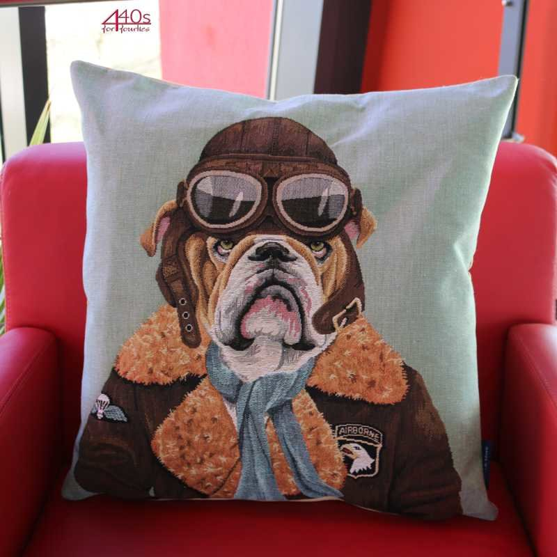 Mars & More Gobelin Kissen Air-man Bulldogge | MM-EVKSPBD