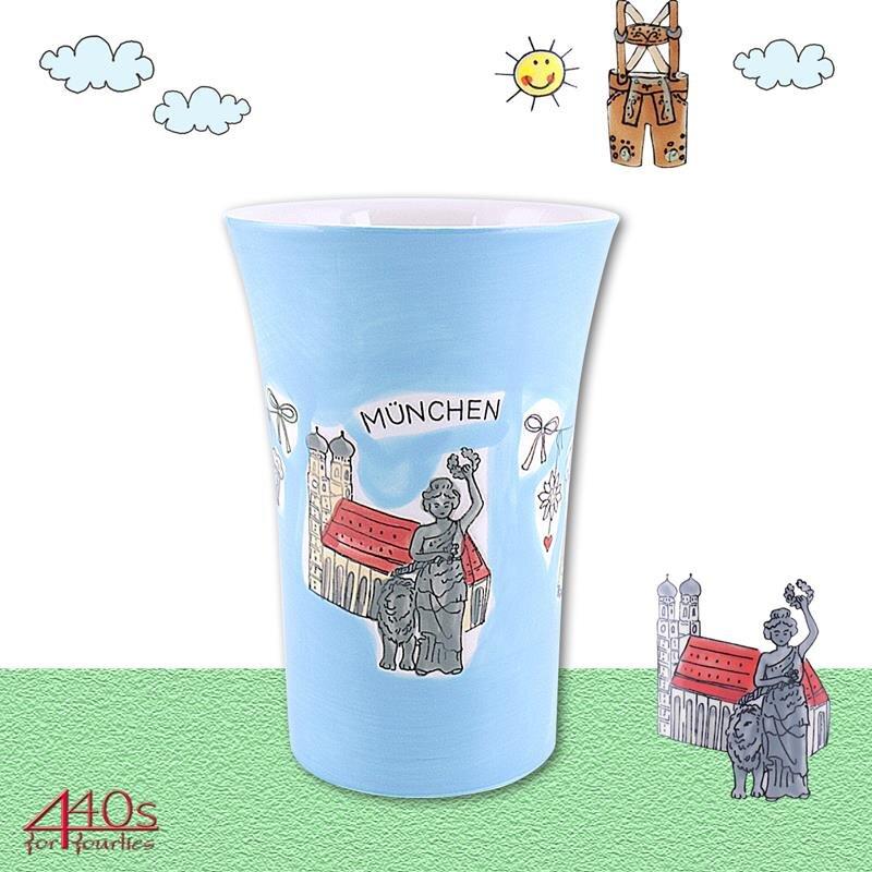 Mila Keramik-Becher Coffee-Pot München Design Frauenkirche | MI-82518