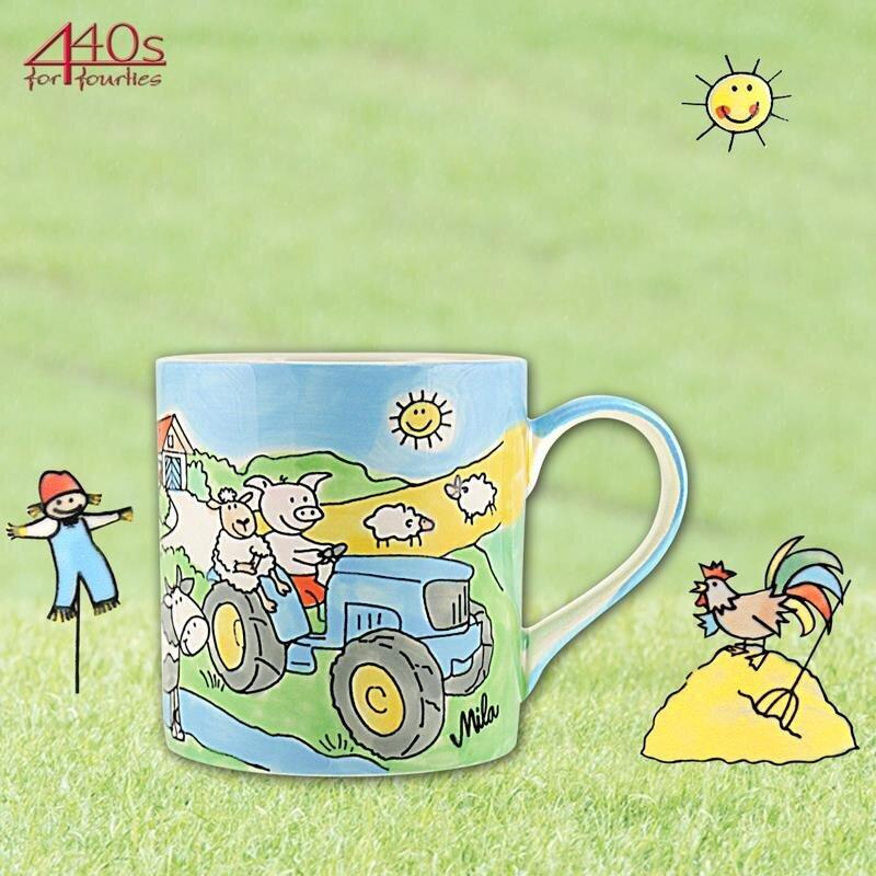 Mila Keramik Kinder-Becher Bauernhof | MI-79181