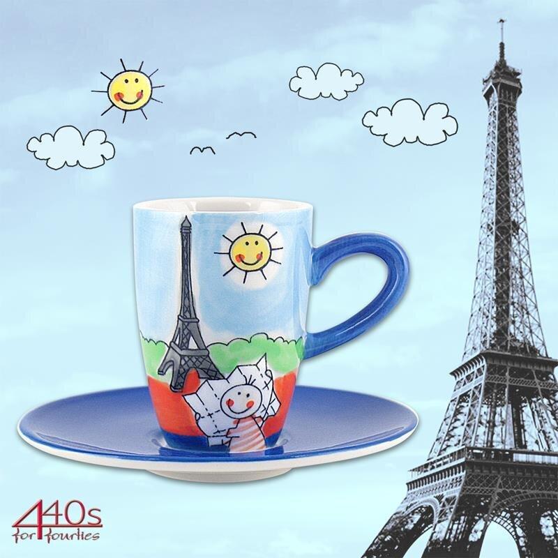 Mila Keramik Espresso-Tasse mit Untere Paris | MI-88002