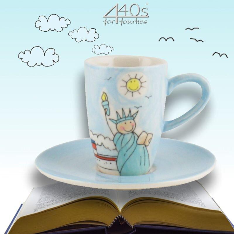 Mila Keramik Espresso-Tasse mit Untere New York   MI-88005