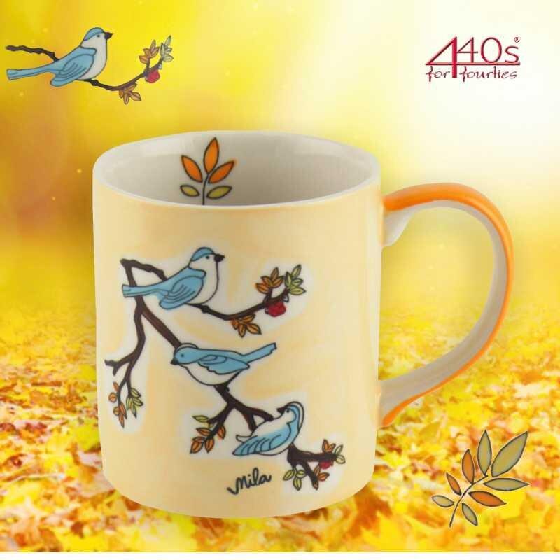 Mila Keramik-Becher Vögel | MI-80202
