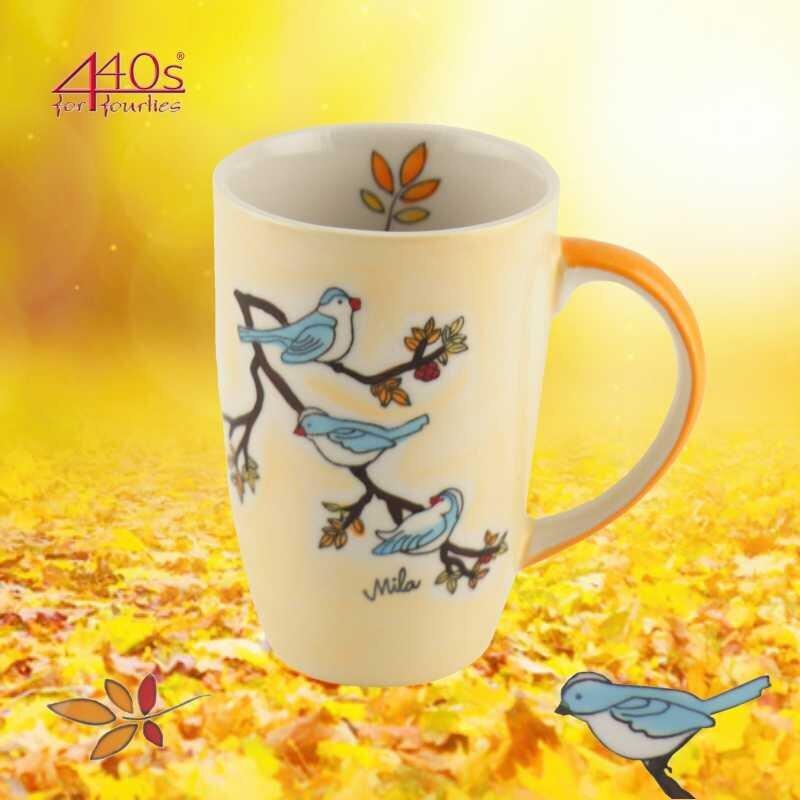 Mila Keramik-Design-Becher Vögel | MI-95202
