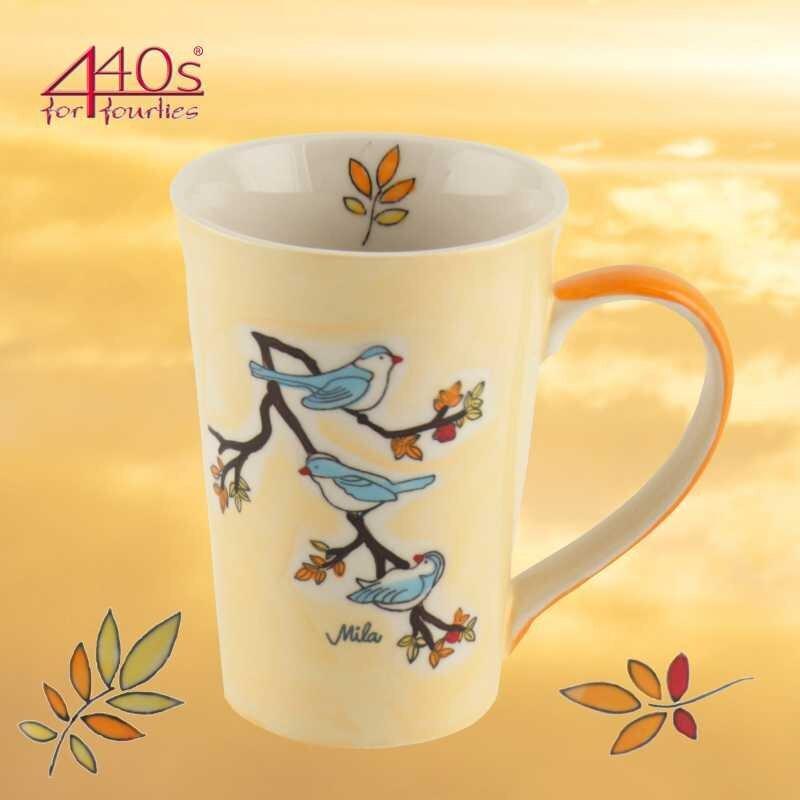 Mila Keramik-Tee-Becher Vögel | MI-81202