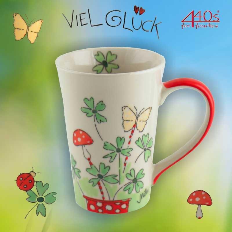 Mila Keramik-Tee-Becher Viel Glück | MI-81196