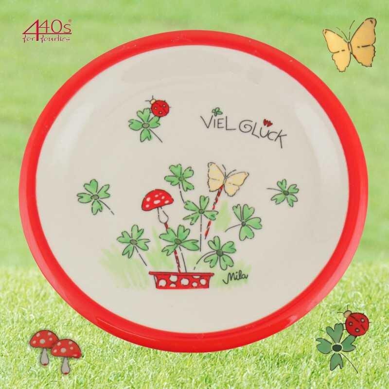 Mila Keramik-Teller Viel Glück | MI-84196
