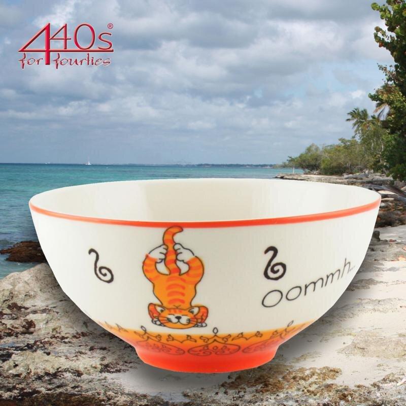 Mila Keramik-Schale Oommh Yoga Katze | MI-85212