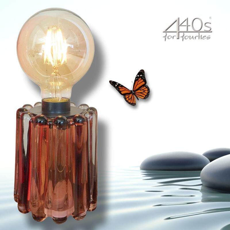 Mila LED Tisch-Lampe Retro-Sol braun   MI-440-RS-BR