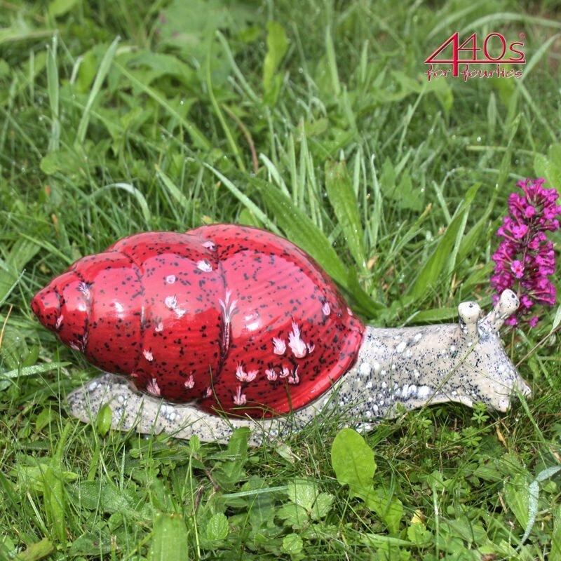 Tangoo Keramik Schnecke mit rotem Haus - TA-62341